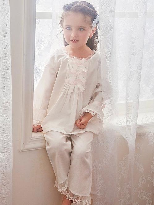 La petite surprise Couture Schlafanzug Lina Weiß