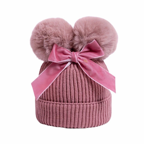 La petite surprise Baby Couture Strickmütze Altrosa Gr.6-36 Monate