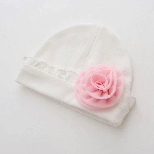 La petite surprise Couture Baby Mütze Weiß