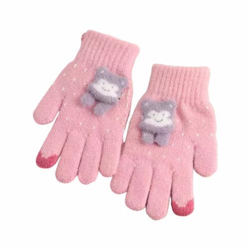 La petite surprise Couture Handschuhe Rosa Gr.3-6 Jahre