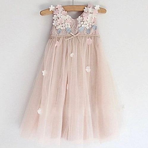 La petite surprise Couture Dress Flowers Nude