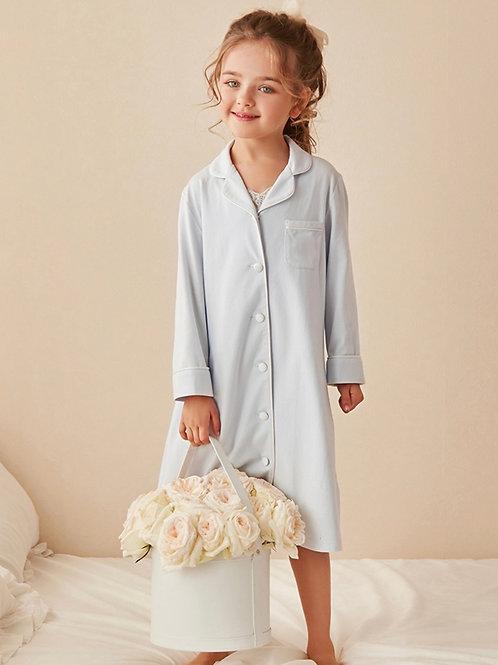 La petite surprise Couture Nachthemd Caroline Himmelblau