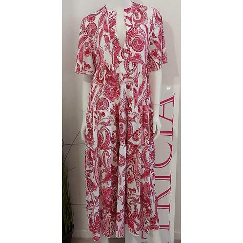 Bea Tricia - Kleid Lucia Paisley Rot