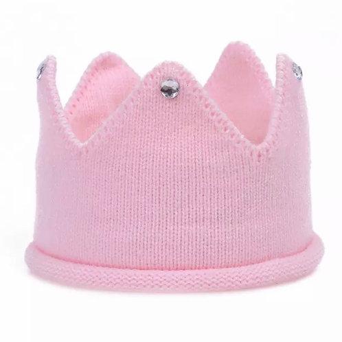 La petite surprise Baby Couture Strick-Krone Rosa