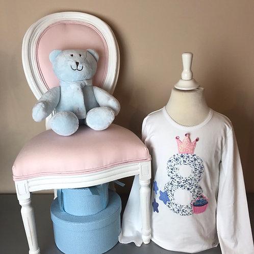 La petite surprise Couture Birthday Shirt Gr.8 Jahre / 128 cm