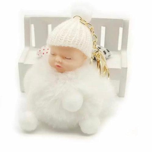 La petite surprise Couture Baby Anhänger Pompom Weiß