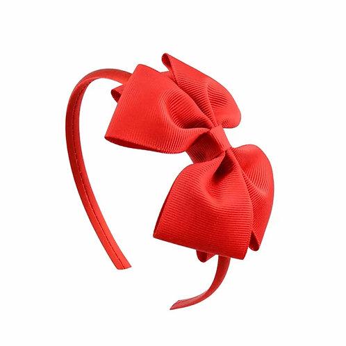 La petite surprise Couture Haarreifen Schleife Rot