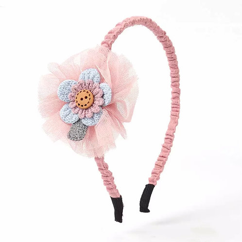 La petite surprise Couture Haarreifen Rosa Blume