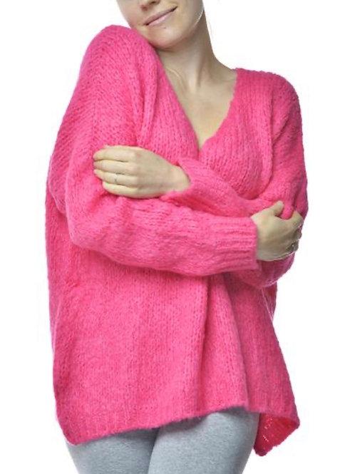 V Milano Pullover Unica Oversize Pink
