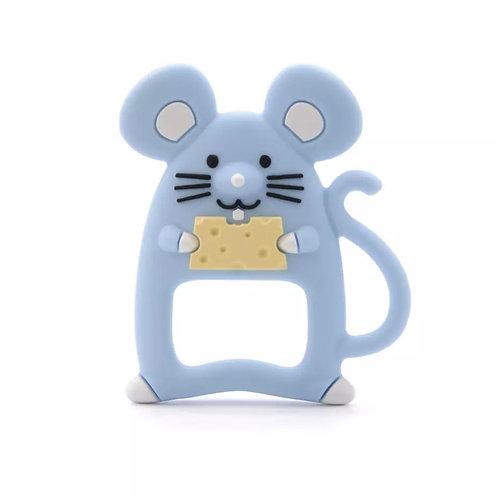La petite surprise Couture Baby Beißring Maus Hellblau