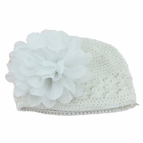 La petite surprise Couture Baby Häkelmütze Weiß