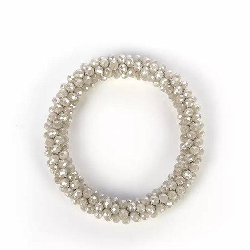La petite surprise Couture Crystal Haargummi / Armband Beige