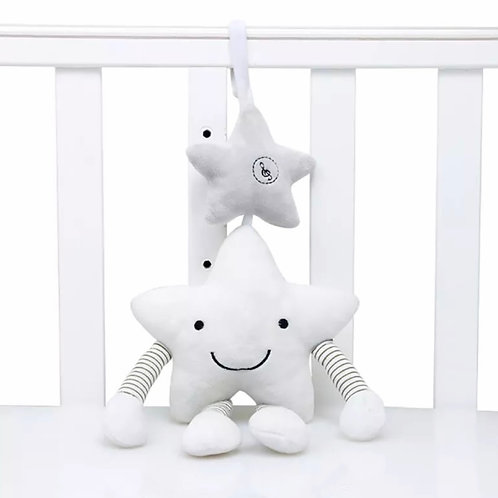 La petite surprise Couture Mobile Rassel Plüschstern Weiß