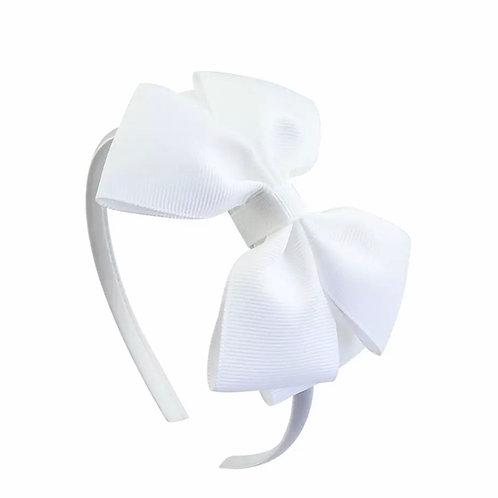 La petite surprise Couture Haarreifen Schleife Weiß
