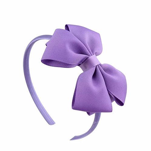La petite surprise Couture Haarreifen Schleife Lila