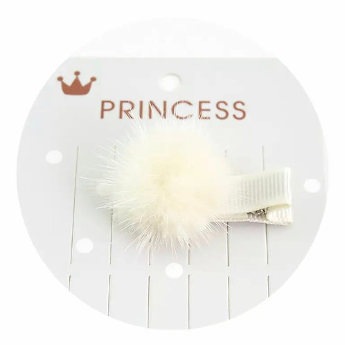 La petite surprise Couture Haarspange Pompom Creme