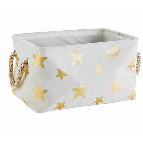 La petite surprise Couture - weiß-goldfarbener Aufbewahrungskorb