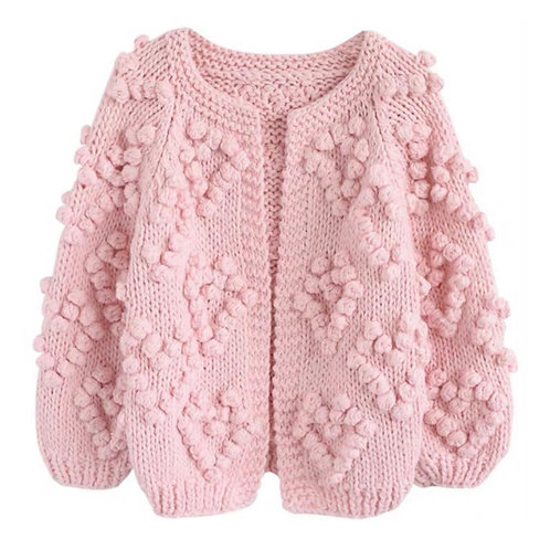 La petite surprise Couture Strickjacke Rosa Onesize