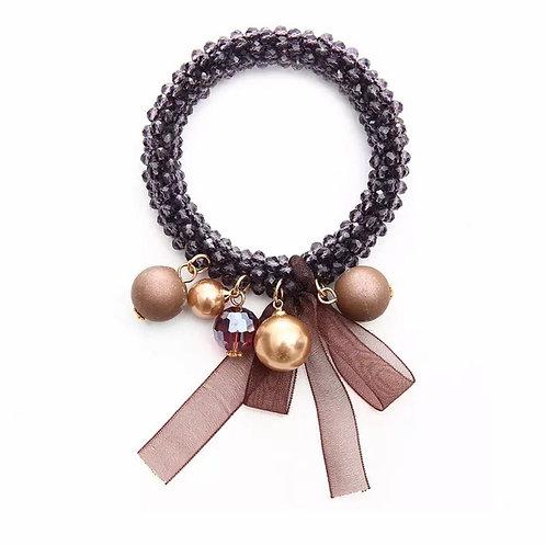 La petite surprise Couture Haargummi / Armband Crystal Aubergine
