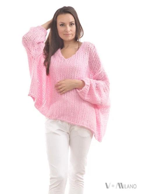 V Milano - Pullover V. Lora Oversize Candypink