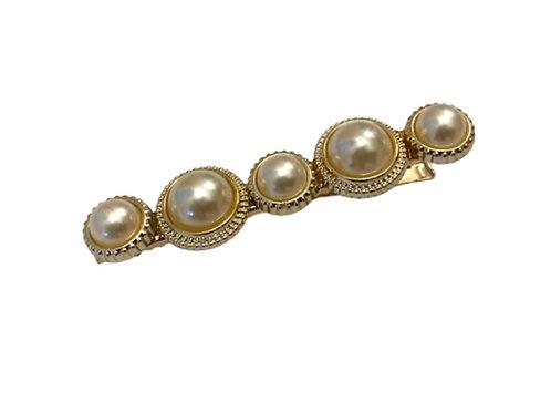 La petite surprise Couture Haarspange Perlen Gold