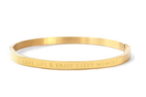 "Armband aus Stainless Steel - ""LOVE LIFE AND ENJOY EVERY MOME"