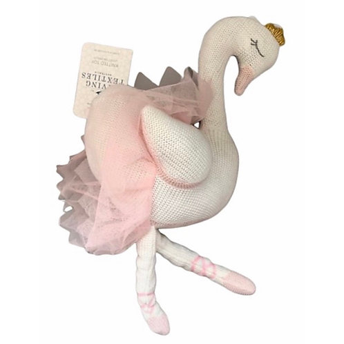 Living Textiles Knitted Toy Suzie Swan 46 cm