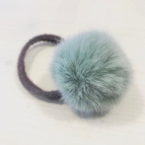 La petite surprise Couture Haargummi Pompom Grau-Mint