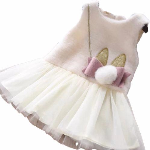 La petite surprise Couture Kleid Bunny Creme