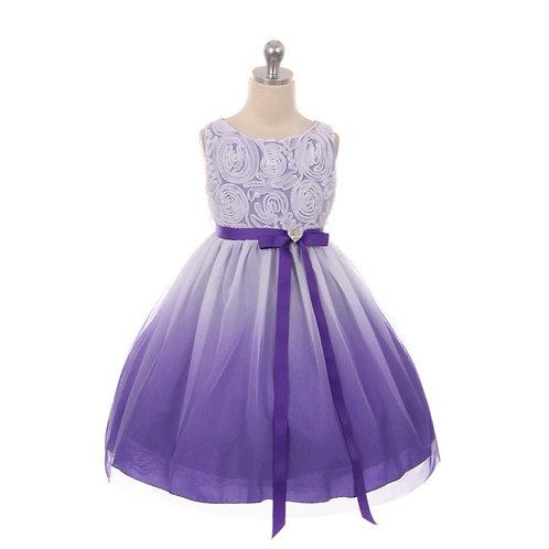 Kids Dream - Kleid Rosette Mieder Ombré Purple