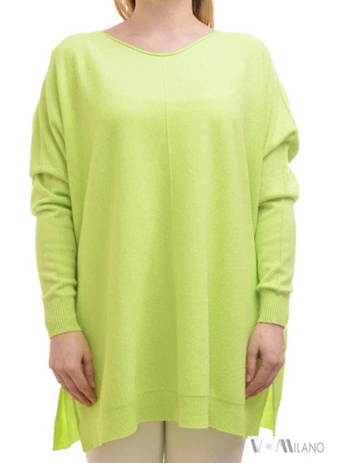 V Milano - Pullover Dulcie Oversize Neongrün