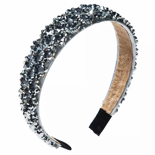 La petite surprise Couture Crystal Haarreifen Grau