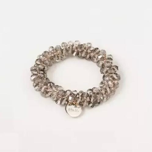La petite surprise Couture Crystal Haargummi / Armband Grau
