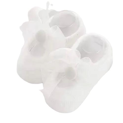 La petite surprise Couture - 1 Paar Babysocken Weiß Gr.0-12 Monate