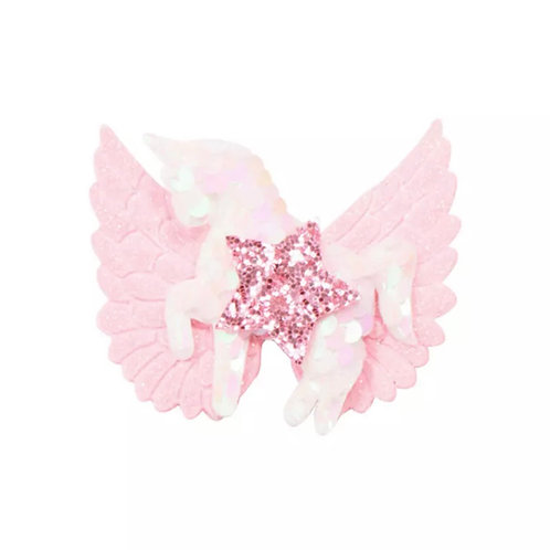 La petite surprise Couture Haarspange Einhorn mit Engelsflügel Rosa