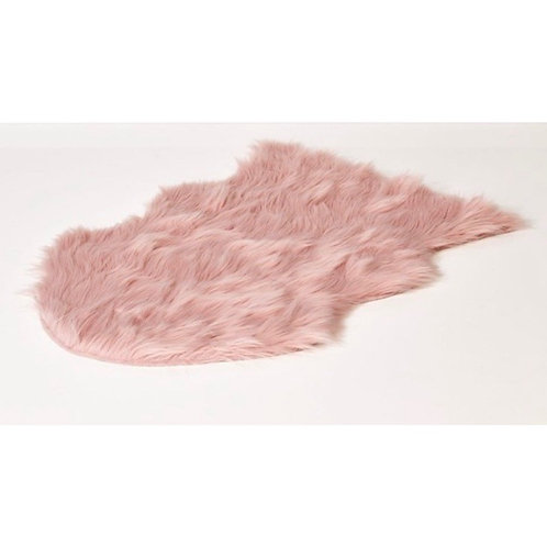 La petite surprise Couture Fellteppich Rosa 60x90 cm