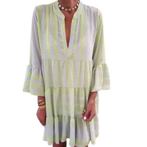 La petite surprise Couture Boho Kleid Neongrün