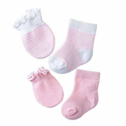 La petite surprise Baby Couture Set Rosa