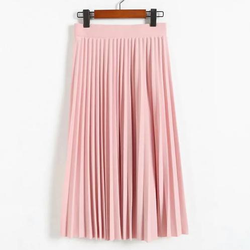 La petite surprise Couture Plissee Rock Rosa