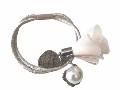 La petite surprise Couture Haargummi / Armband Beige