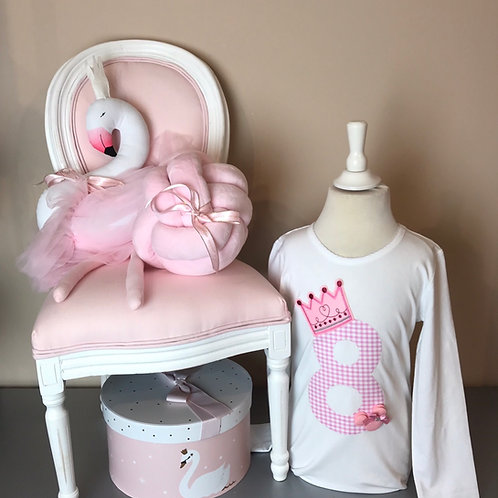 La petite surprise Couture Birthday Shirt 8 Jahre / 128 cm