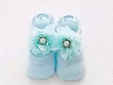 La petite surprise Couture Baby Socken Hellblau Gr.0-12 Monate