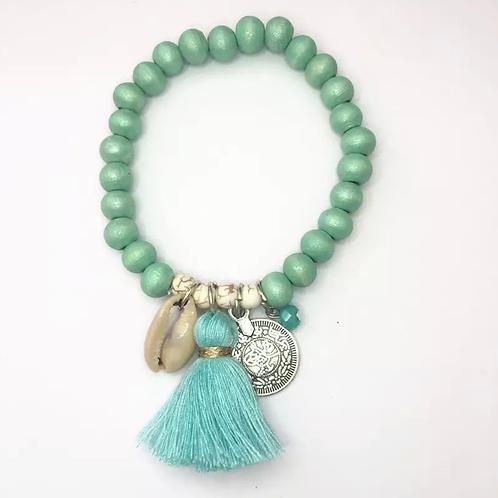 La petite surprise Couture Boho Armband Tiffanygrün