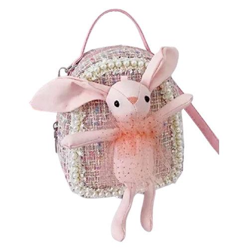 La petite surprise Couture Boucle rosa Rucksack mit rosa Bunny
