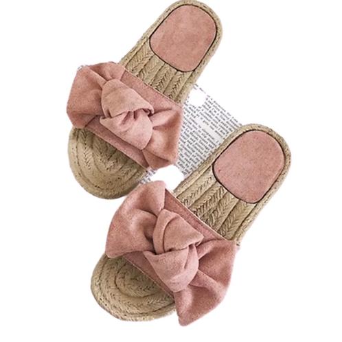 La petite surprise Couture Sommer Schlappen Altrosa