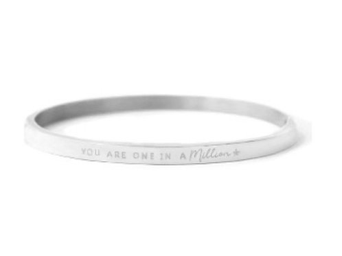 """Armband aus Stainless Steel - """"YOU ARE ONE IN A MILLION"""" Silb"""