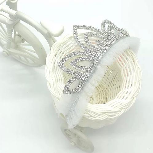 La petite surprise Couture Haarreifen Krone Crystal Weiß