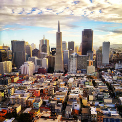 View of downtown SF from Coit Tower