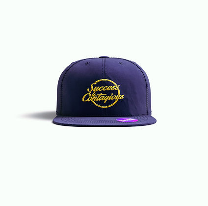 Success Is Contagious Navy Snap Back