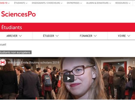 France: Bourse d'Étude Emile-Boutmy à Sciences Po pour étudiants étrangers 2022